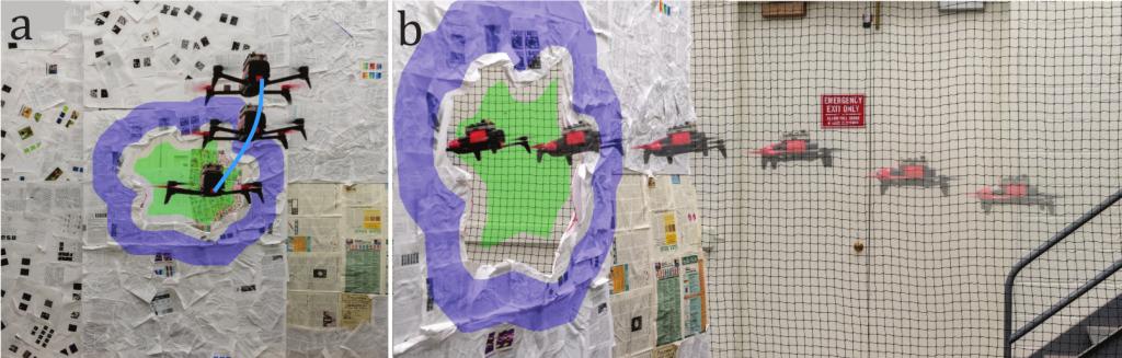 عبور ربات پرنده مدل Bebop 2 از موانع