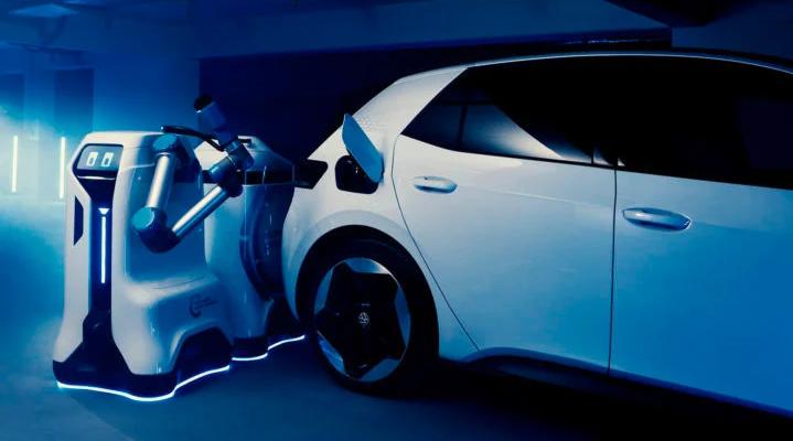 رباتهای شارژر خودروهای الکتریکی